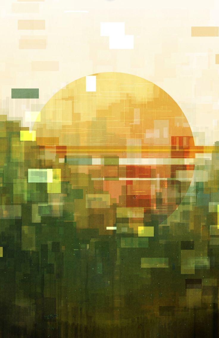Best Digital Art Images On Pinterest Painting D Art And - City skylines turned into geometric metropolises by scott uminga