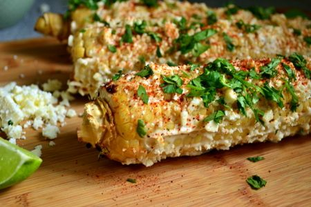 Traeger'ed Mexican Street Corn recipe. You will love this!