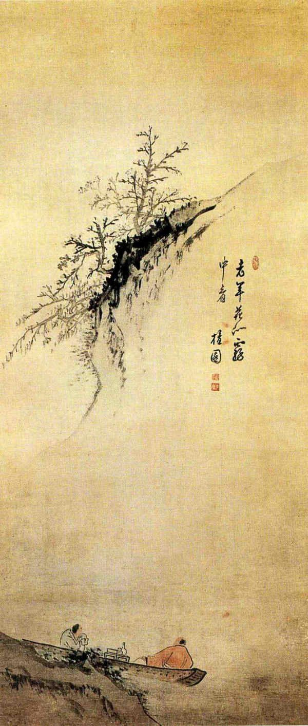 Kim Hong-do 18th C. Korean. ink painting and calligraphy