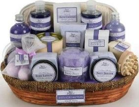 Lavender Vanilla Gift Spa Basket girlfriend gift