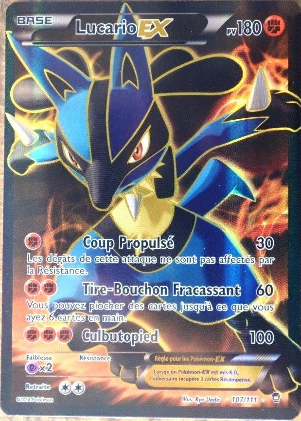 Carte Pokémon 107/111 Lucario-Ex 180 Pv Ultra Rare Full Art Xy03 Neuf Fr
