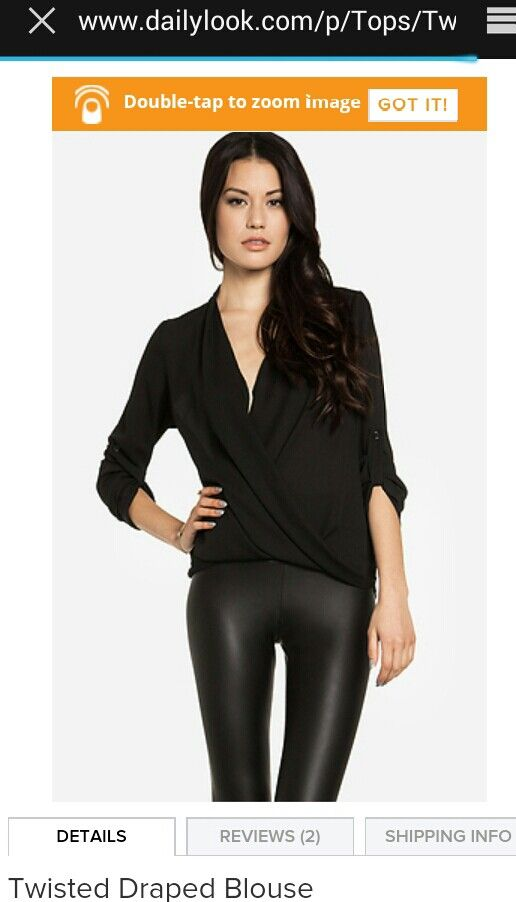 Twisted drape blouse from Dailylook