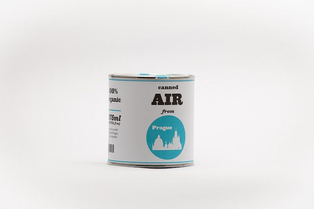 Original Canned Air from Prague - something bizzare to the selection. - Fresh air from Prague relieves stress, cures homesickness