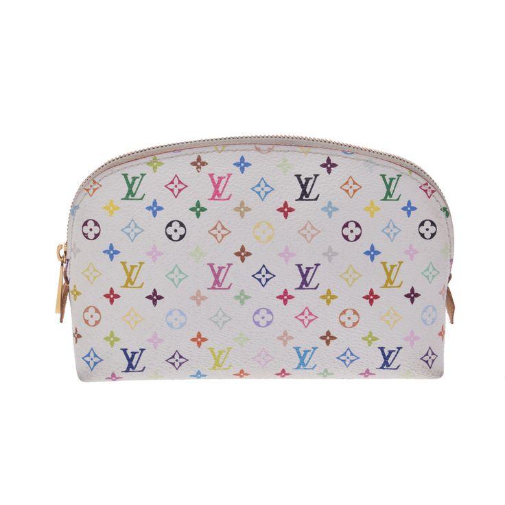 Louis #Vuitton Monogram Multicolore Pochette Cosmetics M47354 Pouch Multi-color,White