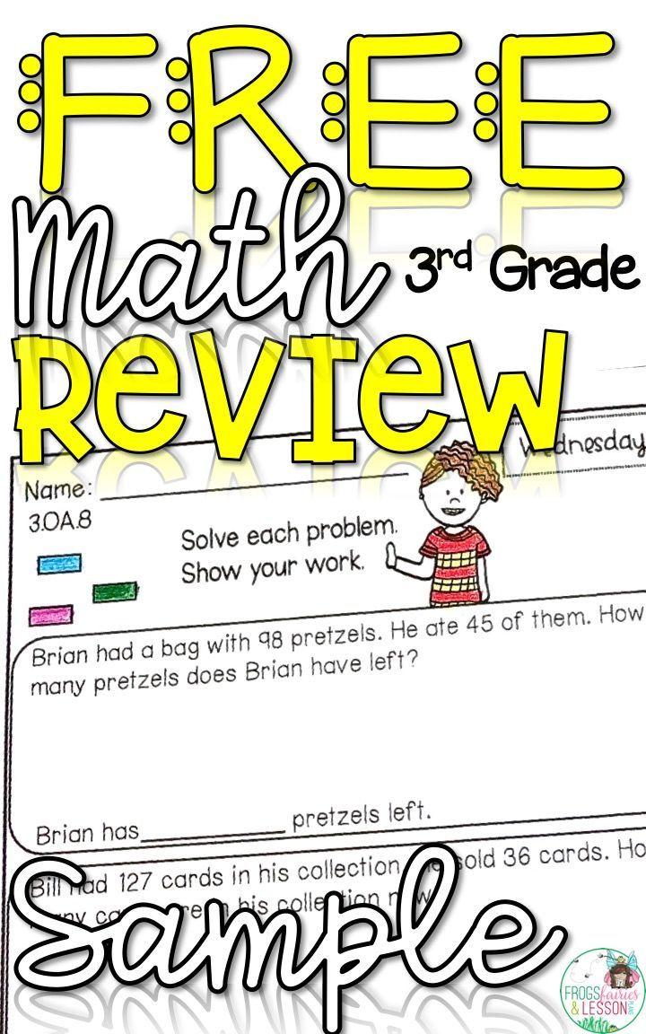 Third Grade Math Homework - Free Sample   Third grade math worksheets [ 1152 x 720 Pixel ]