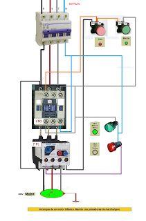 Esquemas eléctricos: mando con pulsadores marcha paro de motor trifasic...