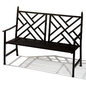 Black Metal Garden Bench