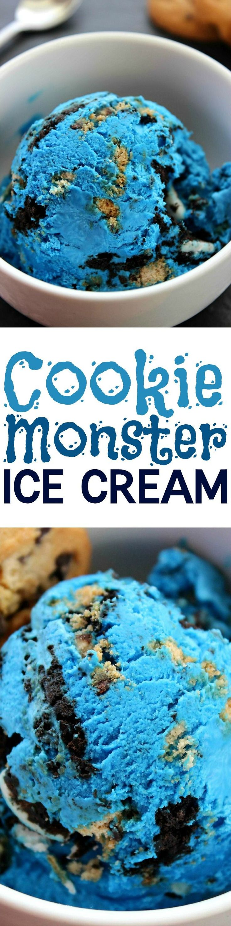 Cookie Monster Ice Cream #Eis #LifeIsSweet #summer #Sommer #Bahlsen