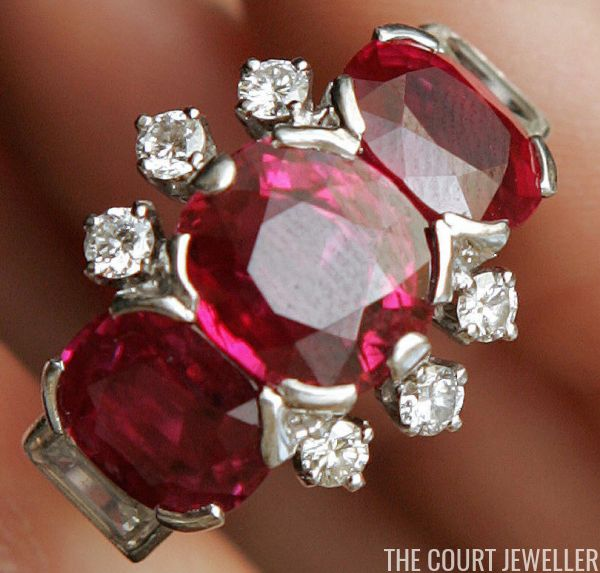Princess Margaret's Ruby and Diamond Ring (Photo: FABRICE COFFRINI/AFP/Getty Images )     When the jewel collection of the late Princess M...