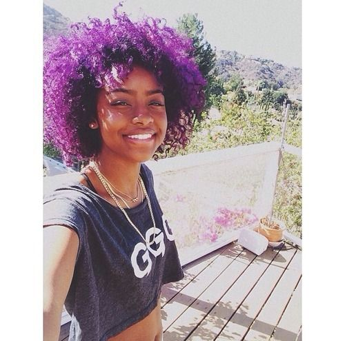 Dark Skin Girls With Purple Hair Google Search