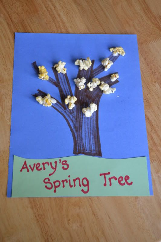 mamas like me popcorn painting and arbor day crafts
