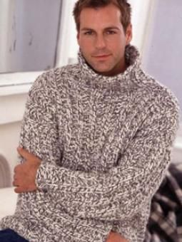 Mans Rib Sweater  Free Knitting Pattern  Project Type: Men  Project Subject: Knitting  Recommended Products: Big Wool  DOWNLOAD PDF