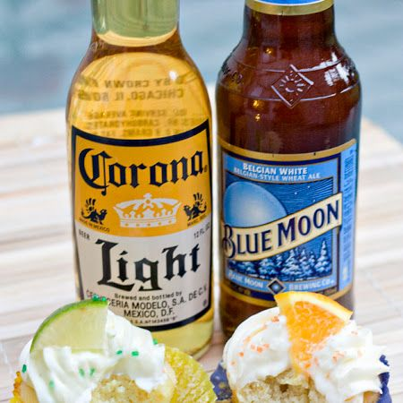 Blue Moon and Corona Cupcakes Recipe