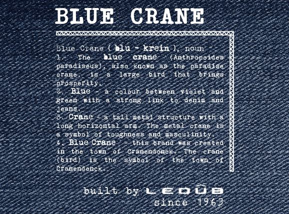 Blue Crane Middenblauw Stretch - Long and Tall Menswear