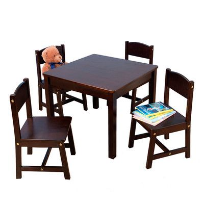 Found it at Wayfair - Farmhouse Kids 5 Piece Table & Chair Set - FOR KIDS PLAYROOM