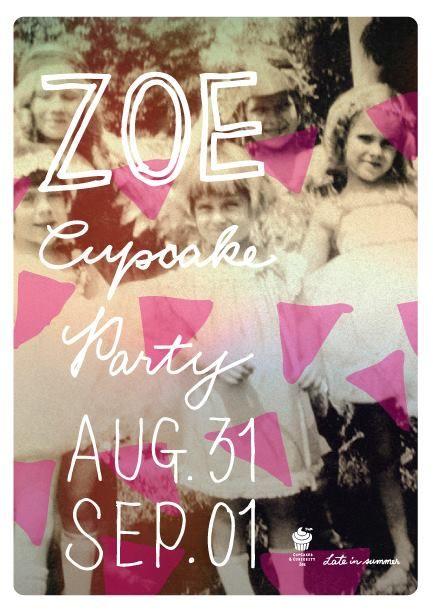 Aug 31 / Sep 01 Zoe Cupcakes party..