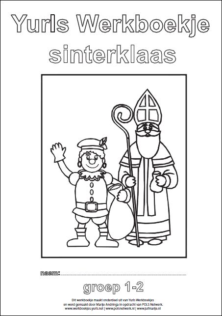 Yurls werkboekje Sinterklaas