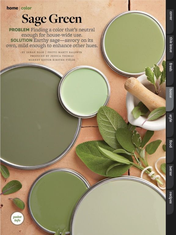 Green palette – for when I finally reclaim the toy room from the kids!