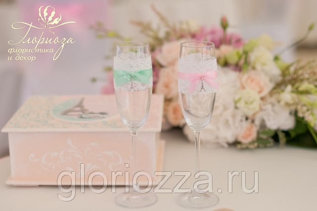 свадьба парижская бокалы