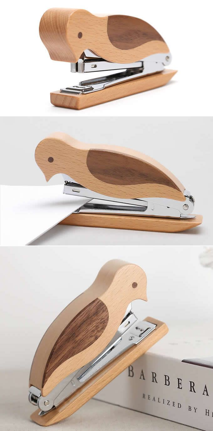 Wooden Woodpecker Stapler