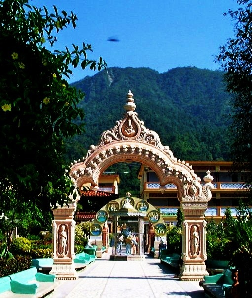 """On the holy banks of the Ganges, in the lap of the Himalayas, lies Parmarth Niketan Ashram, the largest ashram in Rishikesh and one of India's largest spiritual institutions. Parmarth Niketan means """"An abode dedicated to the welfare of all."""""""