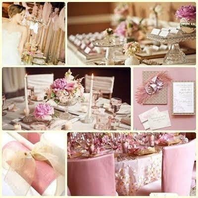 Pink And Champagne Wedding Colors
