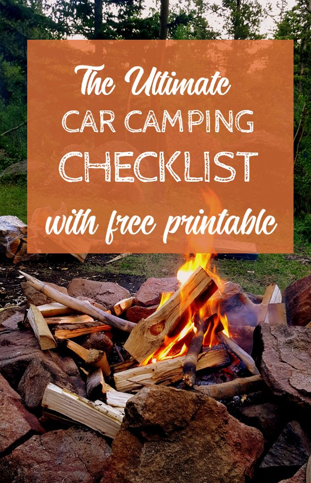 Free Printable: The Ultimate Car Camping Checklist  – Camping Gear