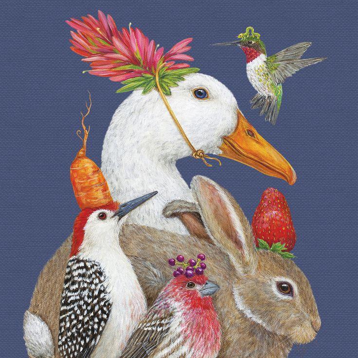 A New Good Friends Napkin 33x33 cm #ppd #paperproductsdesign #animals #tiere #nature #natur #art #designer #kunst #künstlerin #vickisawyer #napkin #serviette