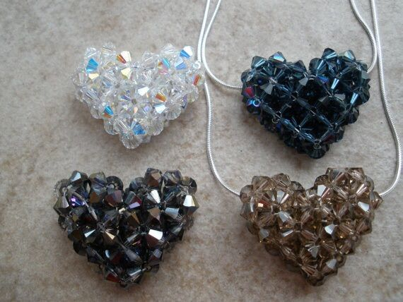 Swarovski Crystal Heart Necklaces