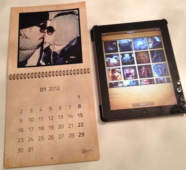 Få en ekte kalender i postkassa di med #Calendagram - av dine #Instagram bilder - Via #iPad eller #iPhone