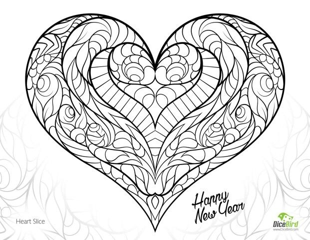 40 best Coloring for adults Walentynki images on Pinterest - new love heart coloring pages to print