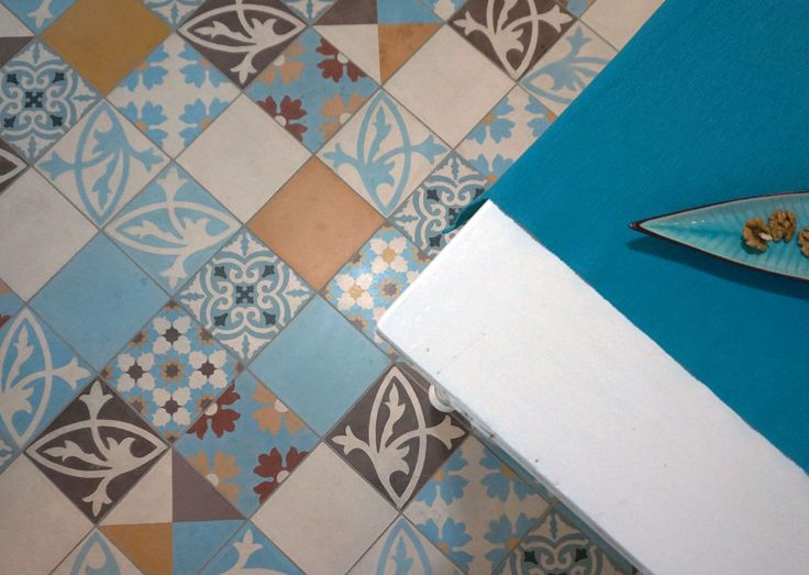 Patchwork 601 cement tiles, made in Marrakesh Cement Tile manufacture, near ....well, Marrakech :-)