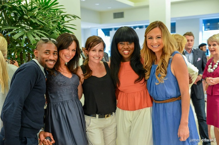 Celebrity Waiter Luncheon Counts Down with Cocktails and Fashions at Tootsies. Pictured are Hamilton Sneed, LeeAnne Locken, Parris Rigby, HGTV's Hilary Younger and CW33's Danielle Vollmar.