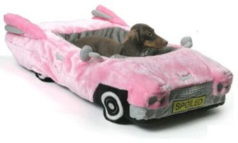 Posh Pink Cadillac Pet Bed eclectic pet accessories