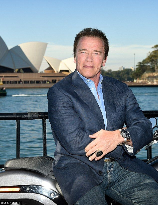 Arnold Schwarzenegger vows to 'terminate' child obesity on return to Melbourne | Daily Mail Online