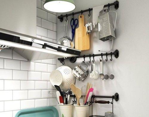 Как расположить рейлинги для кухни. Размещение кухонных рейлингов. Как подобрать подходящие рейлинги и разместить их на кухне.Информационный строительный сайт |