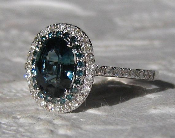 1000 ideas about Teal Engagement Ring on Pinterest
