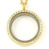 LARGE GOLD TONE LOCKET WITH CRYSTALS www.mycharminglockets.ca #SHD #southhilldesigns @byjanehedges