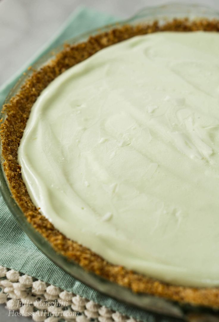 If you love margaritas and frozen pies, your going to love this Magic Margarita Pie. It's quick to put together and a great way to celebrate Cinco de Mayo!   HostessAtHeart.com