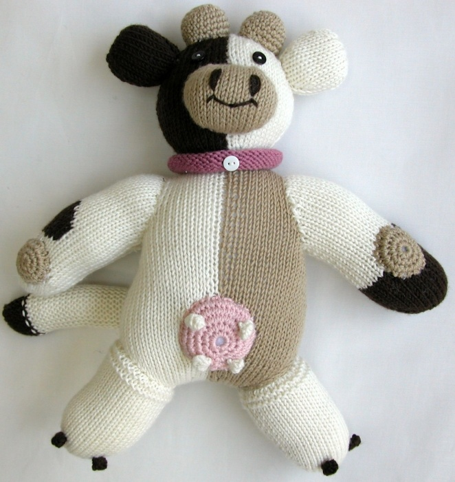 BELLE Soft Cow Toy - see matching ALICE outfit for baby girls . . .
