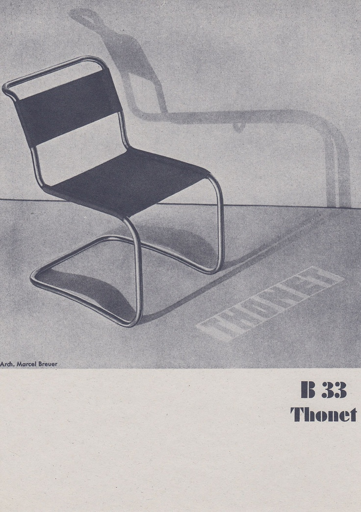 a print of a b 33 tubular steel chair by marcel breuer for On design mobel thonet