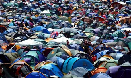 How to find your tent at a festival