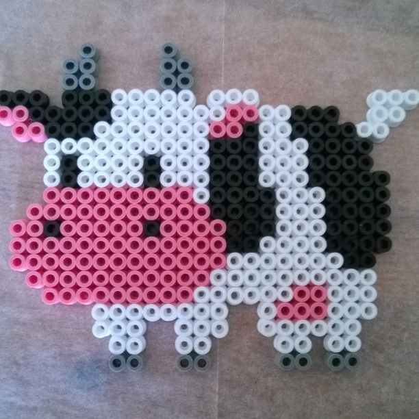 Harvest Moon cow hama beads by cloudcommander