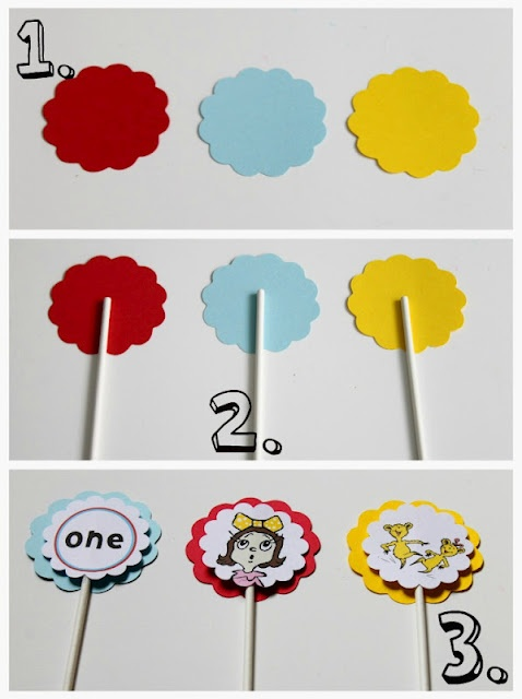 Dr. Suess Birthday Party    DIY cupcake toppers