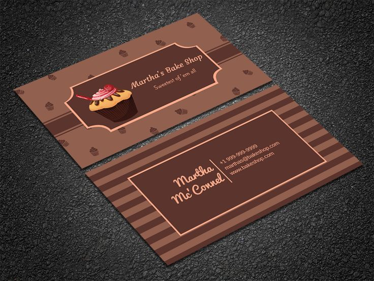 The 35 best free professional business card edit online and by makebizcards business card designing edit this tasty chocolate cupcakes themed bakery template online with your branding to get reheart Images