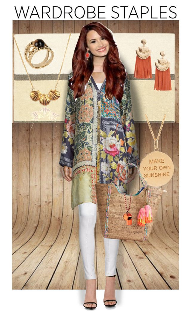 """""""Breezy Silk Tunic"""" by dundiddit on Polyvore featuring Brink & Campman, Patrizia Pepe, Johnny Was Collection, Lilly Pulitzer, MANGO, momocreatura, Just Cavalli and plus size clothing"""