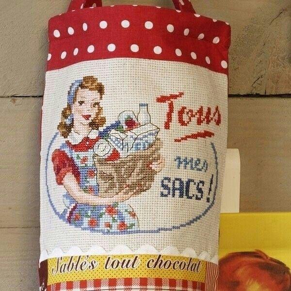 «Francine» à broder au point de croix - Les Brodeuses Parisiennes ''tous mes sacs''