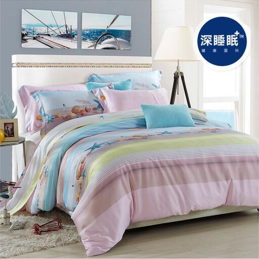 100% doğal Tencel ipek Bahar yaz plaj shell denizyıldızı kıyısı 4 adet ev tatil çarşaflar yatak örtüleri yatak seti/B3511(China (Mainland))