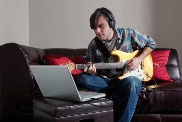 Learning to play guitar is a challenge, but with this series of free online guitar lessons, complete with popular songs to practice, you'll begin to improve immediately