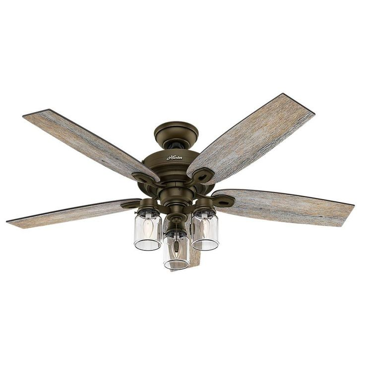 Hunter crown canyon 52 in indoor regal bronze ceiling fan bedroom ceiling fansdining